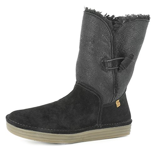 N5055 Doble FAZ-Lux Suede Black/Rice Field Negro Mujer 39 Botas Button Plus Cord