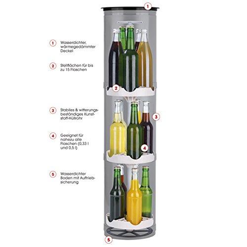 EASYmaxx 07787 Flaschenkühler Outdoor | Versenkbarer Erdloch-Getränkekühler | Für Camping, Strand, Festivals