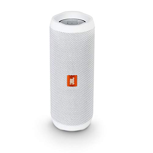 JBL Flip 4 Bluetooth Box in Weiß - Wasserdichter, tragbarer Lautsprecher mit Freisprechfunktion & Sprachassistent - Bis zu 12 Stunden Wireless Streaming mit nur einer Akku-Ladung