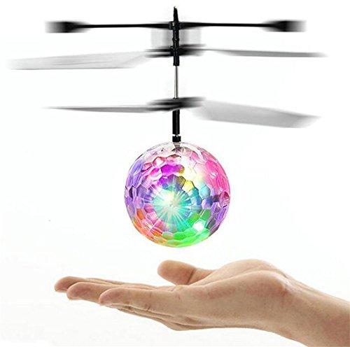 RC elicottero giocattolo giocattolo RC elicottero Crystal Ball Flying con LED lampeggiante per regalo di natale bambini
