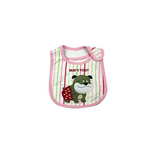Dearmy 1 Stück Neugeborenes Lätzchen Rülpsen Tücher Baby Lätzchen Bandana Zum Kinder Mädchen Jungen Weich Baumwolle Lätzchen Baby Kleidung Fütterung Speichel Handtücher (Rosa)