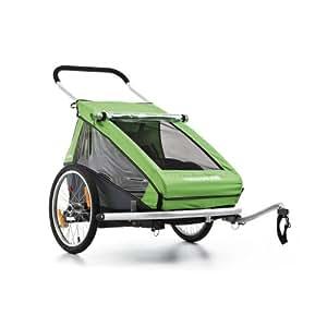 Croozer Remorque de vélo pour enfant Kid For 2 Vert 113 x 90 x 84 cm
