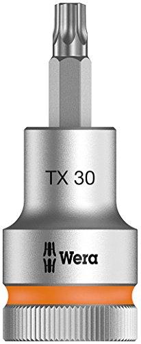 Wera 05003833001 8767 C HF TORX Zyklop Bit-Nuss 1/2 Zoll Antrieb mit Haltefunktion, TX 30 x 60 mm
