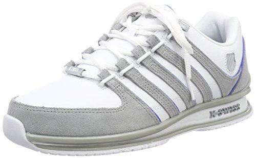 K-Swiss Herren Rinzler SP Sneaker, Weiß (White/Highris/Strong Blu 185), 43 EU