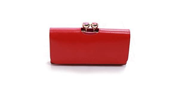 b86499331d199 Ted Baker Brick Red Bonny Flat Top Bobble Purse OS  Amazon.co.uk  Shoes    Bags