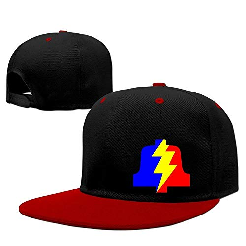 Colorful Pla Bell Solid Flat Bill Snapback Baseball Cap Hip Hop Unisex Custom Hat. (V Buck Bell)