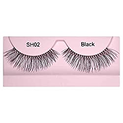 GlamGals Stylish Black Soft Thick Reusable False Eye Lashes