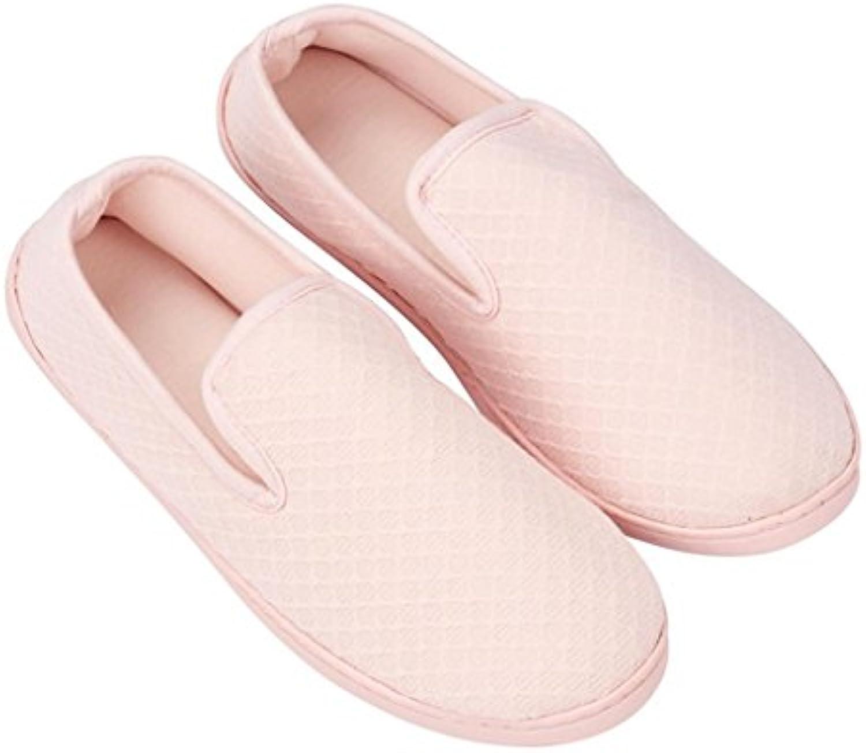 Zapatillas de estar por casa Primavera Y Otoño De Suelo Suelo Suelo Casa Zapatillas, Anti-Skid Madres Zapatos... -