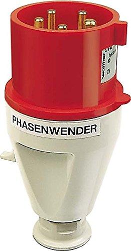 Walther Werke Phasenwender Stecker 231 PH 32A 5P 400V 6h IP44 CEE-Stecker 4015609013715