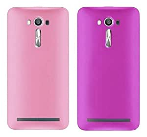 Chevron Back Cover Combo Of 2 for Asus Zenfone 2 Laser ZE500KL (Light Pink, Purple)