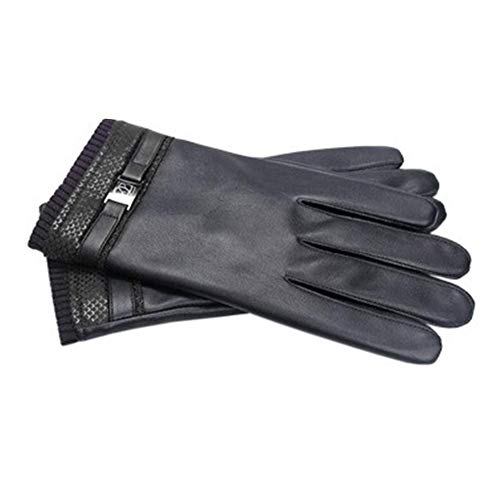 6d96d4df3b69d3 Singa-z Code Leather Gloves for Men -Velvet Thick Warm Gloves - Riding Touch