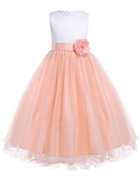 FEESHOW Vestidos de fiesta Niñas Vestido de flores Elegante de Princesa Vestido comunion niña para bodas cumpleaños