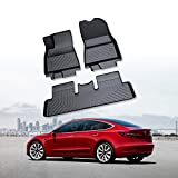 RUIYA Tapis Tapis de voiture Caoutchouc noir imperméable Coussin intérieur adapté aux besoins du client Tapis de sol complet pour Tesla model 3