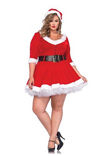 Leg Avenue 85411X Miss Santa - Größe 1X-2X  EUR 44-46, rot/weiß
