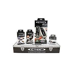 CTEK MXS3.8 (56-309) Toolbox Set Caricabatteria, 12V-3.8A, con Accessori di Connessione