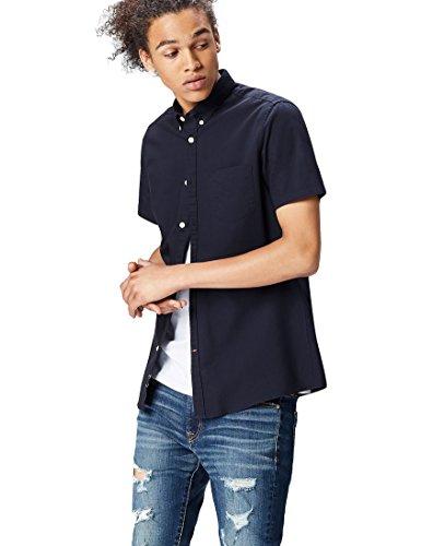 Find camicia a manica corta uomo, blu (navy), 54 (taglia produttore: x-large)
