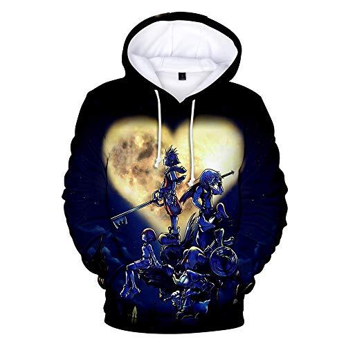Lustige College Für Junge Kostüm - ZGDGG Unisex Pullover Hoodie Kostüm Kingdom Hearts 3D Cosplay Kostüm Hoodie Sweatshirt,D,L