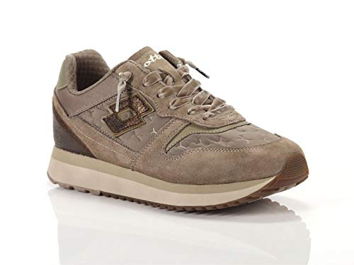 Lotto Leggenda, Donna, Slice Padded W, Suede/Nylon, Sneakers, Grigio, 38 EU