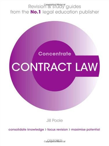 Contract Law Concentrate: Law Revision and Study Guide by Poole, Jill (March 21, 2013) Paperback