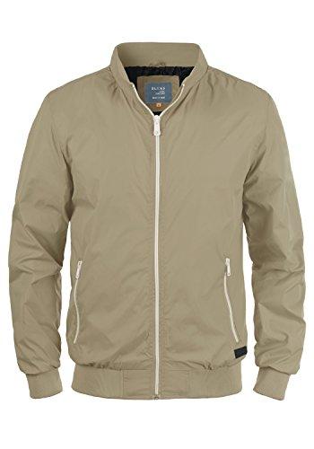 Blend Brad Herren Übergangsjacke Herrenjacke Nylonjacke mit Stehkragen, Größe:L, Farbe:Safari Brown (75115)