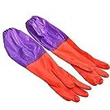 Kicode Bol plat Lave-linge à laver vêtements imperméable à l'eau chaude Latex Gants Protéger la main Kithchen