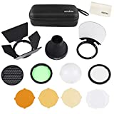 Godox AK-R1 Accessories, Color Filter, Diffuser Dome Kit with Magnetic for Godox V1 Camera Flash Godox AD200 AD200Pro H200R Round Head Flash
