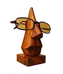 Pebble crafts Hand Crafted Wooden Spec Specs Stand Spectacle Holder