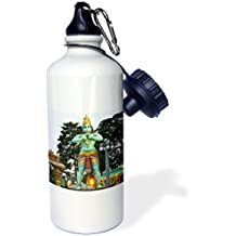 Sports Water Bottle Gift, Monkey God Statue At Batu Caves Malaysia Photo White Stainless Steel Water Bottle for Women Men 21oz