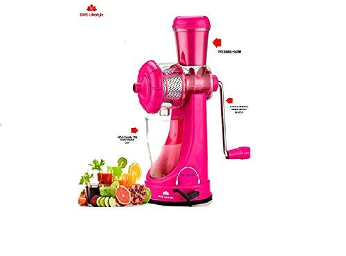 BMS Lifestyle SMART Fruits & Vegetable Juicer With Waste Collector Pink