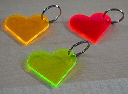 Set di 50 sun catchers/Suncatcher portachiavi a forma di cuore Chen Ø 5 cm (Suncatcher Portachiavi)