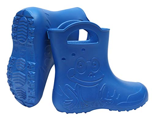Sapro System Kids Boys Girls Wellies Rain Boots Light Children Wellington Boots EVA Frog