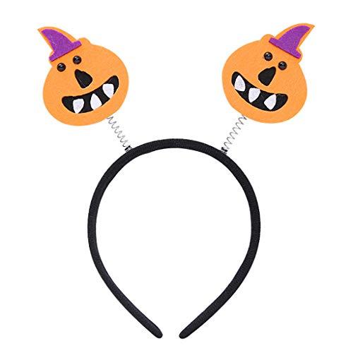 en Halloween Fledermäuse Kürbis Frühling Haarband Party Stirnband Lustiges Kostüm - Kürbis ()