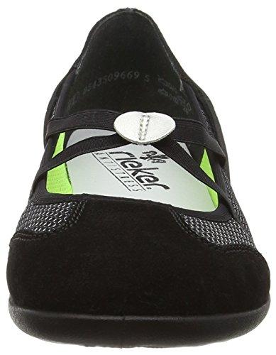 Rieker 59575-01, Baskets Basses femme Noir - Noir
