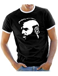 Clubber - Mr.T from A-Team Contrast / Ringer T-Shirt S-XXL Assorted Colours