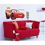 Colorfulworld XL! Car's Lightning McQueen Auto Wandtattoo Wandaufkleber Wandsticker Kinderzimmer Bogen Gr.60*90cm