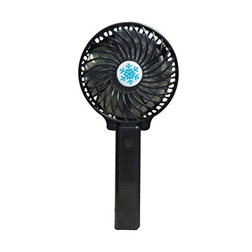 Wongfon Ventilateurs électriques portatifs Mini Ventilateur portatif Personnel portatif avec USB Ventilateur électrique à Piles Rechargeable pour la Salle de Bureau