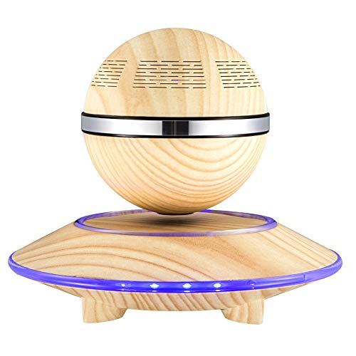 BUY-TO Floating Drahtlose Lautsprecher Tragbarer Bluetooth-Player Geburtstagsgeschenk,Woodgrain