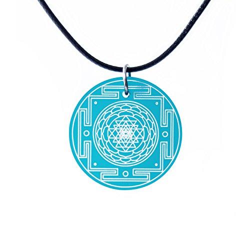 Kar-ma Colgante esotérico shri yantra/sri yantra para yoga y meditación - verde jade