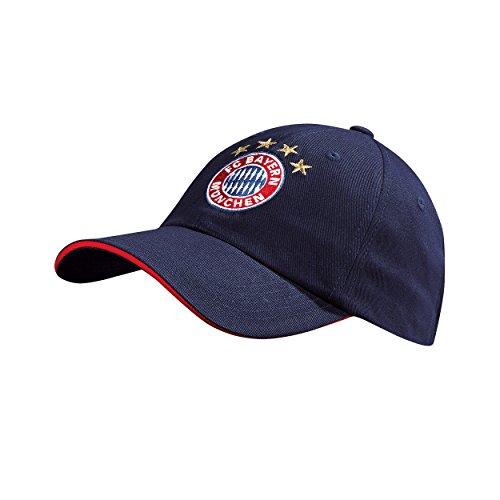 FC Bayern Kappe Kids navy Baseball Cap 20470 (Hut Navy Fußball)