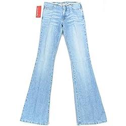 Fornarina - Vaqueros - Campana - Efecto teñido - para mujer azul azul celeste 56