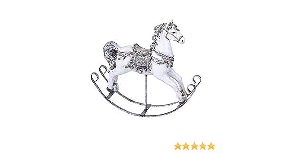 Schaukelpferd Dekofigur Pferdefigur Weiss Silber Handbemalt 25 Cm Weihnachten Winterdeko Von Formano Amazon De Kuche Haushalt