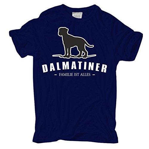 Männer und Herren T-Shirt Dalmatiner - Familie ist alles Größe S - 8XL Dunkelblau