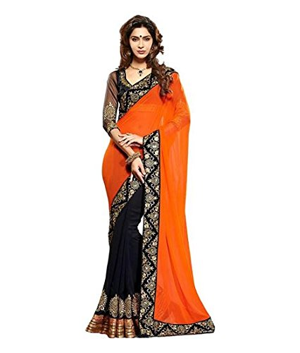 Crazy Women\'s Party Wear Georgette Sarees for women with Blouse Piece