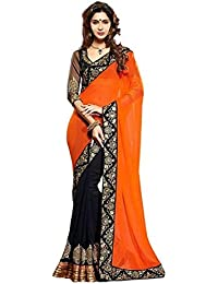 Crazy Women's Party Wear Georgette Sarees For Women With Blouse Piece