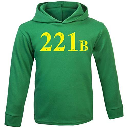 Cloud City 7 221B Baker Street Sherlock Holmes Address Baby and Kids Hooded Sweatshirt (Kostüm Sherlock Holmes Baby)