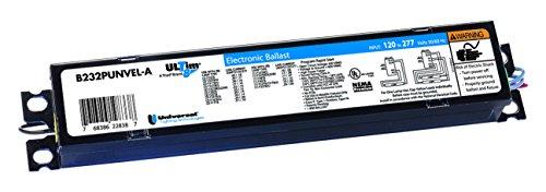 Universal Beleuchtung Technologien b254punv-d001C Elektronisches Vorschaltgerät, fluoreszierende, Hohe Ausgangsleistung, 2-lamp, 54W, 120–277V