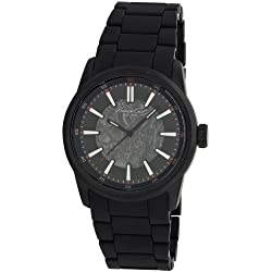 Kenneth Cole Men's Automatic Watch with Black Dial Analogue Display and Black Plastic or PU Bracelet KC9004