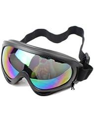 TOOGOO (R) 2 en 1 Tactica militar de metal Mascara de malla + Proteccion Gafas de Disparos pistola de aire