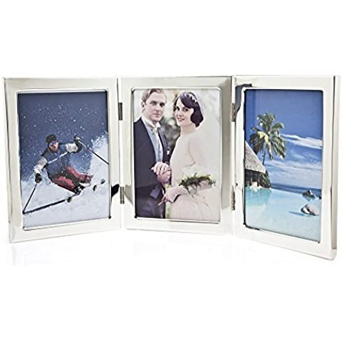 Godinger Silverplated Triple Classic Picture Frame - 5x7 Photos by godinger