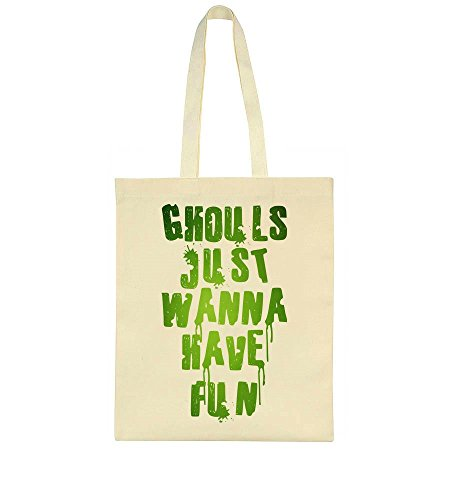 idcommerce Ghouls Just Wanna Have Fun Glowing Design Tote Bag - Cool Ghoul, Ghost